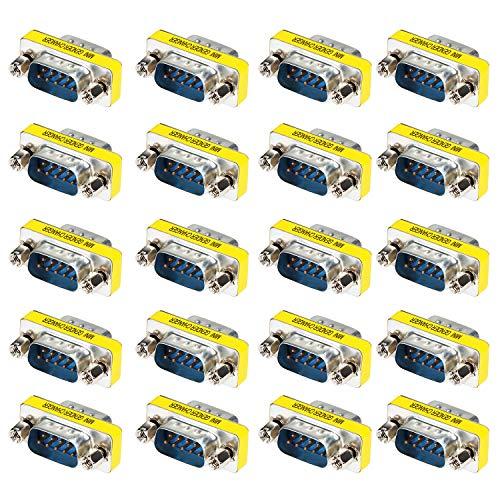 Seriell Rs-232 Gender Changer (KEESIN DB9 Seriell Geschlecht Wechsler,9 Poliger RS-232 Kabel Koppler Adapter, 20 Pack (Mann zu Mann))