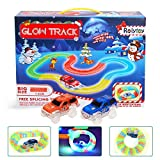 Magic Glow Track DNYCF Circuit Flexible (3.57 mètres) Jouet DIY Construction Magic Rails Fluorescents Toy Track avec 2 Voiture Race Car Game Cadeau pour Enfants 3 4 5 6+