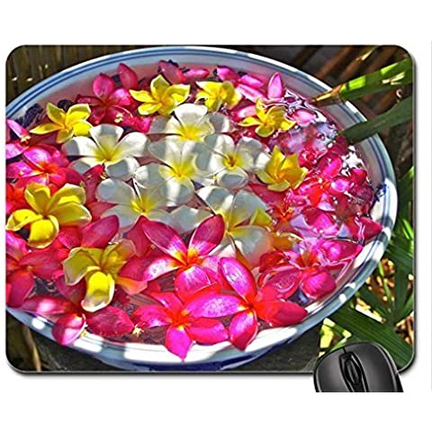 Bowl of Plumeria Flowers beautiful Mouse Pad,
