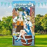Blulu Oktoberfest Party Dekorationen Oktoberfest Foto Requisit, Riesiger Stoff Foto Stand...