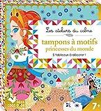 tampons à motifs princesses du monde - 5 tableaux à colorier et à décorer
