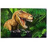 Schreibtischunterlage Dinosaurier T-Rex - 60 cm * 40 cm - PVC Unterlage / Knetunterlage / Schreibunterlage / Tischunterlage - Tyrannosaurus Rex Dino für Jungen