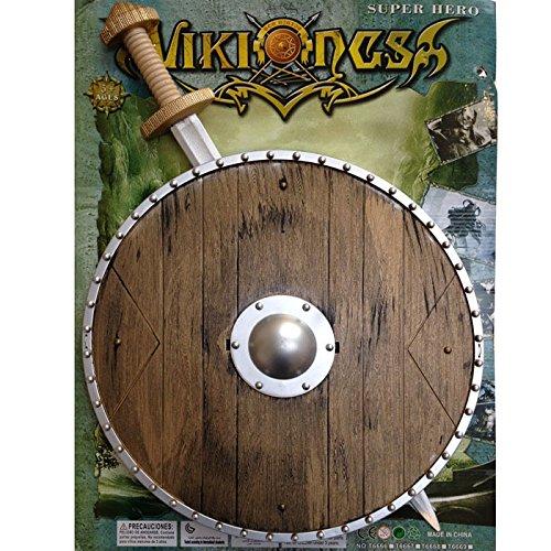 Wikinger Set zweiteilig - Schwert und Schild zum ()