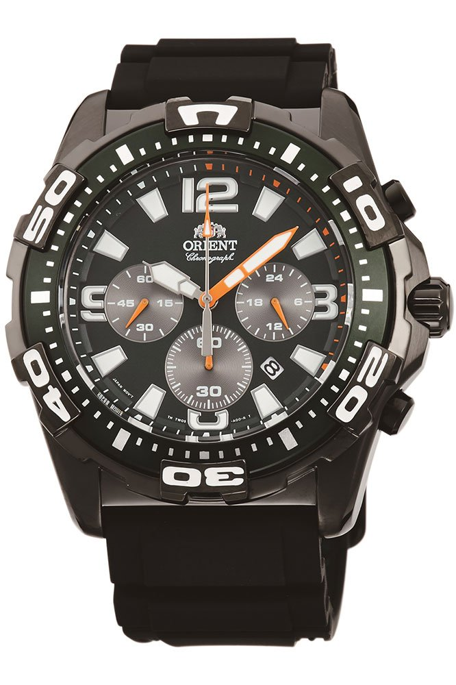 Orient Reloj Cronógrafo para Hombre de Cuarzo con Correa en Caucho FTW05003F0