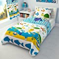 Children's Nautical Bedding - Girls Boys Duvet Cover and Pillowcase Cot/ Cot bed/ Toddler - SEA ANIMALS