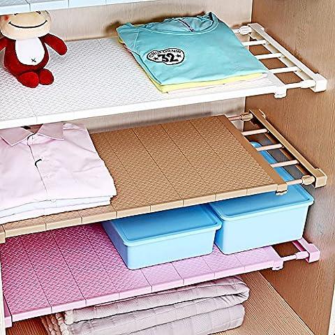 vancore verstellbar Storage Rack Kleiderschrank Schrank Küche Badezimmer Organizer Regal, ohne Punch/einfache Installation Length Stretch (24 Wire Shelf)