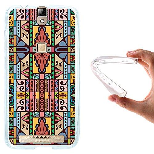 WoowCase Elephone P8000 Hülle, Handyhülle Silikon für [ Elephone P8000 ] Abstrakte Farben Muster Handytasche Handy Cover Case Schutzhülle Flexible TPU - Transparent