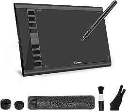 LANSRAYOL Zeichentablett Grafiktablett 10x6 Zoll Digitalisiertablett Kabellos Batterielos Stift 5080 LPI 266 RPS 8192 Stufen druckempfindliches natürliches Schreibgefühl Kompatibel mit Mac Windows