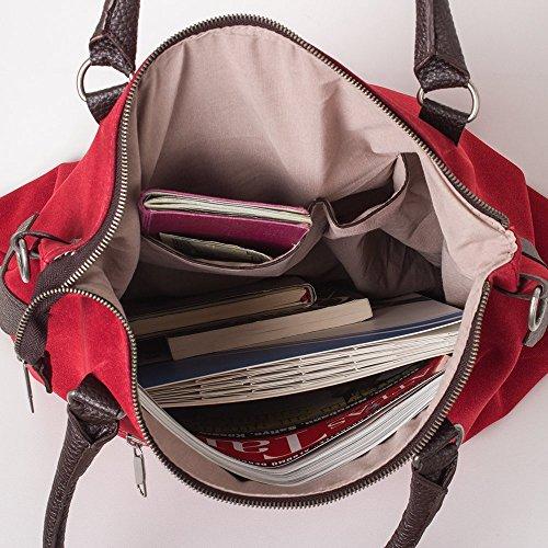 Bags4Less - F3151, Borsa a tracolla Donna Velours-Dunkelbraun
