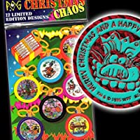 POGS 1995 Full Set of 12 CHRISTMAS CHAOS + KINI - Sealed Mint - POG SHOP