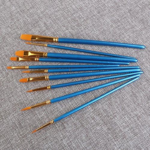 comprare on line WINOMO Pittura ad acquerello pennello Set pennelli di Nylon – 10pz (blu)