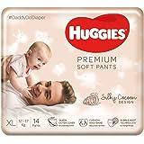 Huggies Premium Soft Pants, Extra Large (XL) Size Diaper Pants, 14 Count