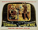 House of Wax, Vincent Price, Frank Lovejoy, Phyllis Kirk, Carolyn Jones, 1953- affiche de réimpression 36x28 pouces - sans cadre