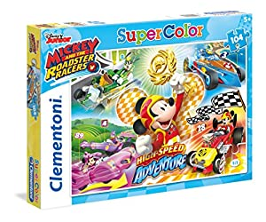 Clementoni 27085 Mickey and The Roadster Racers Puzzle, 104 Piezas
