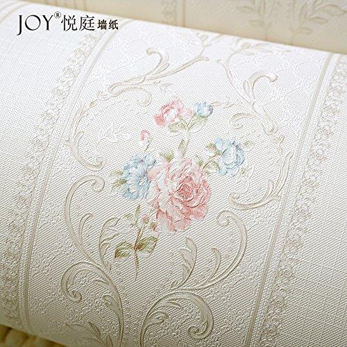 impermeabile-stile-carta-da-parati-non-tessuta-rosa-pastorale-sfondi-creativid