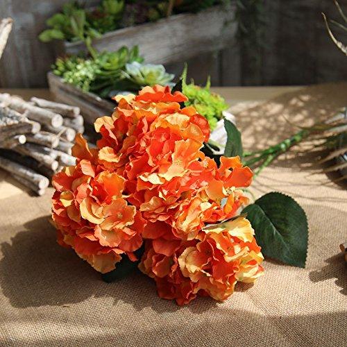 Zhudj i mazzi di fiori di simulazione home decor lato strada mazzi di fiori a parete parete impianto di fiori d'arancio.