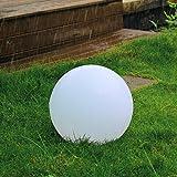 Kealive LED Solar Gartenleuchten Kugel Ø30cm 1W Außen Solarlampe 8 Farben 2 LEDs Wasserdicht IP67 für Garten, Hof usw.