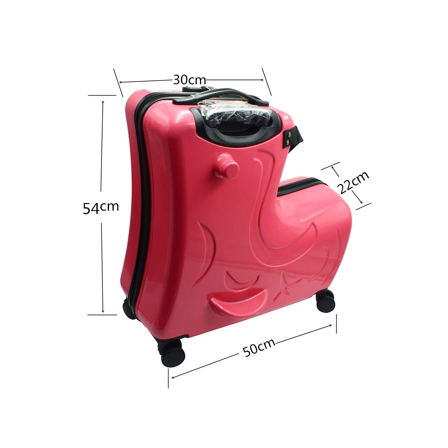 a3ee0201d8ca Portable Boys and Girls Children Ride on a Trojan Suitcase and for Parents  to Rest Assured Kids Luggage Sets - Luggage and Travel Accessories