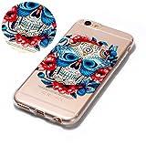 Meet de iphone 6 / iphone 6S Coque Antidérapant Transparent TPU Silicone Gel Housse Étui Protecteur Cover Case Souple Ultra Mince pour iphone 6 / iphone 6S-Masque de couleur