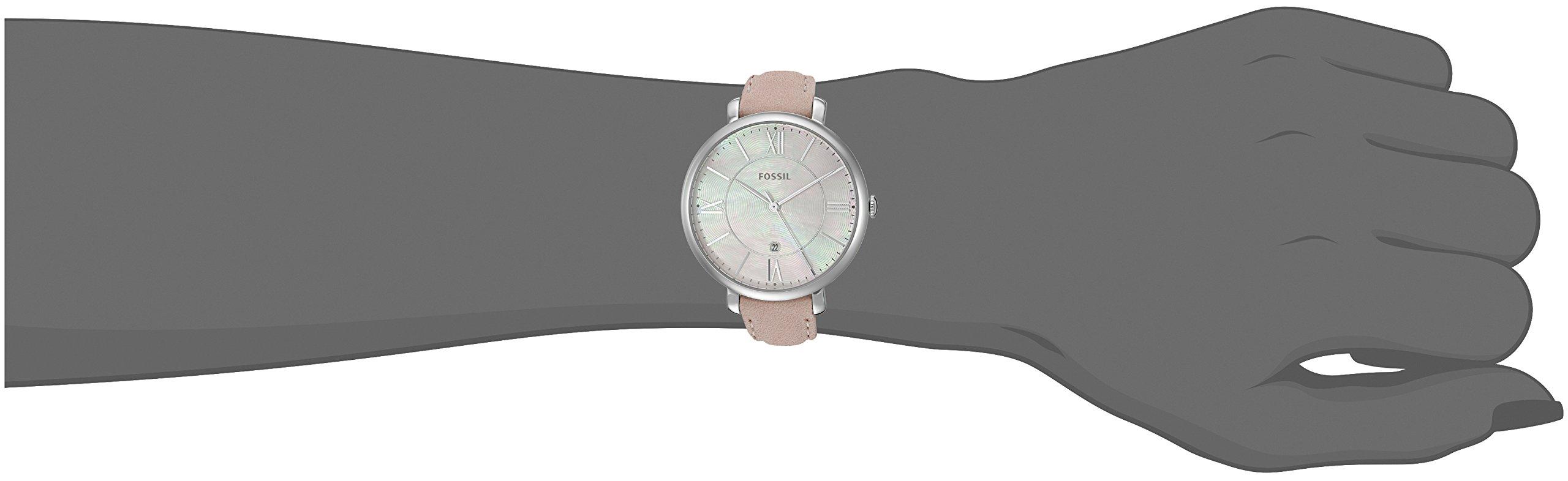 Fossil Jacqueline Blush Reloj de cuero para mujer