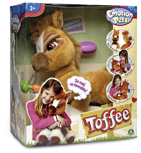 Giochi Preziosi 70606001 - Emotion Pets - Toffee, Plüschpony mit Funktion, 50 cm
