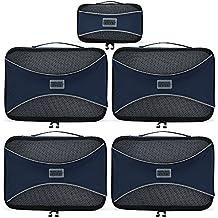 PRO Packing Cubes Packtaschen, Reise Kleidertaschen, Packwürfel, Reisetasche in Koffer, Koffertasche, Wäschebeutel, Schuhbeutel, Ultra-leichte Aufbewahrungstasche, 5-teiliges Set