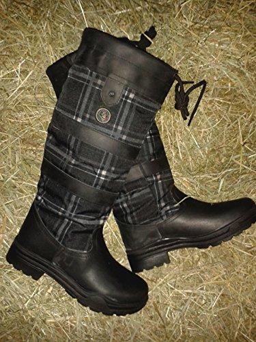 Fashion Stiefel - Check Spring- schwarz/karo
