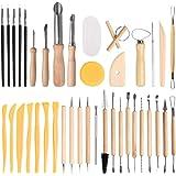 FOCCTS 40pcs Argile Poterie Outils de Sculpture Outil de Carving Set Kit d'Outils en Céramique de Sculpture Utilisés pour la