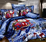 Best FADFAY Beddings - FADFAY Home Textile,Designer Santa Claus Christmas Bedding Sets Review