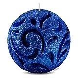 DECORNAC [ Dekoration Wohnung modern ] Glitzer Kugel ♥ Handmade Duftkerze ♥ Elegant Dunkelblau Candles Duft Kerzen Geschenk für Frauen Orginelle Geburtstag Geschenkideen 9cm!