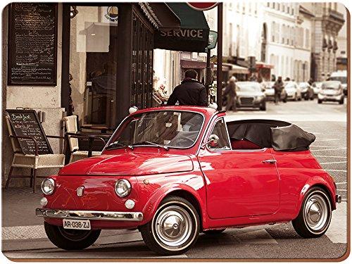 Creative Tops-Set di 2 casa Retro Fiat Grande-Tovaglietta all'americana con Retro in sughero, multicolore, 2 pezzi