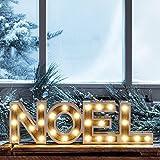 Mot Décoratif « NOEL » Lumineux LED en Bois à Piles par Lights4fun