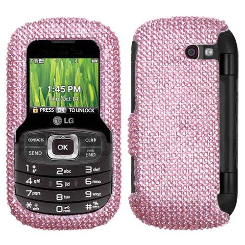 Hartschale für LG VN530 (Kunststoff, aufsteckbar, mit Strasssteinen) Rosa (Handy Case Lg Octane)