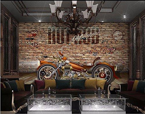 BZDHWWH Mural Personalizado Foto 3D Moto Racing De Papel Tapiz De Fondo...