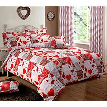 pillowcases garden set home wood eves duvet col pillowcase red oxford for cover shop n covers bedding