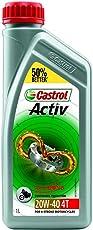 Castrol ACTIV 4T 20W-40 Petrol Engine Oil for Bikes (1 L)