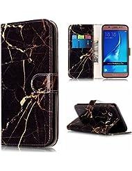Coque Galaxy J7 2016, Etui Samsung Galaxy J7 (2016) J710, BONROY® PU Cuir Flip Housse Étui Cover Case Wallet Portefeuille Fonction Support Avec des Cartes de Crédit Slot et Fonction Support pour Samsung Galaxy J7 (2016) SM-J710