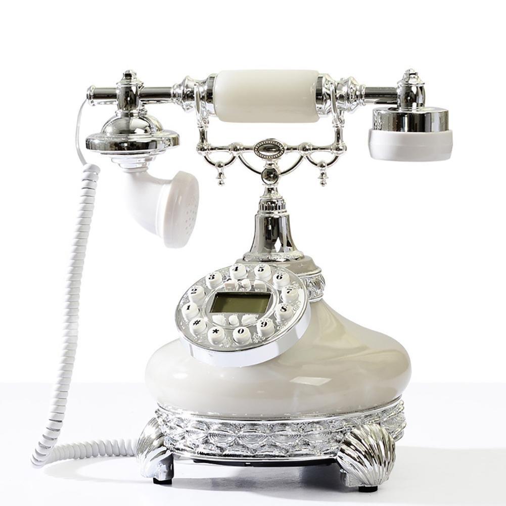 BBIAY Retro scrittorio domestico telefono, Stile europeo, ID chiamante casa creativa, camera da lett