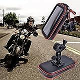 Impermeable para motocicleta, interruptor universal de 360°, resistente al agua, soporte de motocicleta, soporte de teléfono para retrovisor, soporte de espejo para iPhone para teléfono Samsung S4 S5 S6 S7 Note 2 3 4 5 iPhone 4 5 6 6S 6 Plus 7 8 X 7 Plus LG HTC
