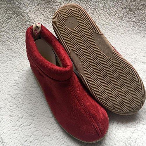 W&XY Chaudes Faible Chaussons plein air Rembourré Humidité la résistance Antidérapant Intérieur Hommes Hiver Coton Chaussures 41