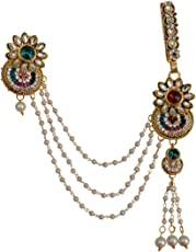 Taj Pearl Traditional Metal Half Kamar Bandh For Women