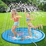 "Limiwulw Splash Play Mat 68 ""Cospargere i Giochi d'Acqua per Neonati Bambini Bambini Ragazzi Ragazze Bambini Patio all'aperto Summer Fun Sprinkler Pad"