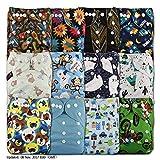 LittleBloom BEBE Tissu Couche Couches Lavables Poches REUTILISABLE, Fixation: POPPER, Lot De 12, MODELE 1202, Sans Insert