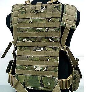 Tactique Airsoft Chasse Militaire Armée MOLLE Protecteur Gilet avec Hydration Eau Réservoir Multicam (MC)