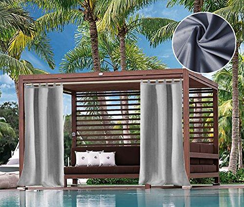 UniEco Outdoor Vorhang Raffgardinen mit Schlaufen Gartenlauben Balkon-Vorhänge...