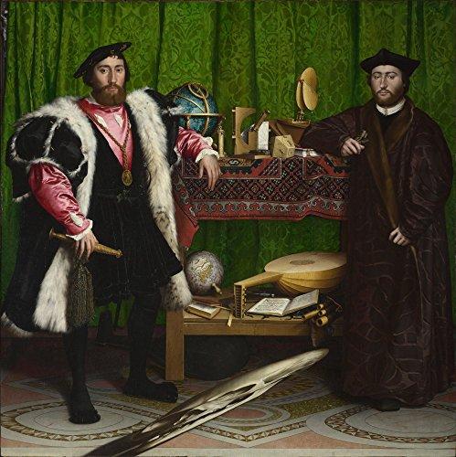 Das Museum Outlet–Hans Holbein der Jüngere–Die Botschafter, gespannte Leinwand Galerie verpackt. 50,8x 71,1cm