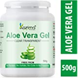 KAZIMA Aloe Vera Gel Raw - 100% Pure Natural Gel - Ideal for Skin, Face, Acne Scars, Hair Care, Moisturizer & Dark…