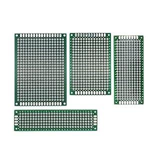 AptoFun 20 pcs Lochrasterplatine board PCB Universal Board with size (5x7/ 4x6/ 2x8/3x7 cm, each 5 pcs)