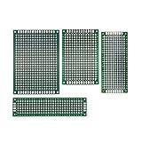 AptoFun 20 pcs Lochrasterplatine board PCB Universal Board with size (5x7/ 4x6/ 2x8/3x7 cm, each 5 pcs) / 20 Pezzi Scheda PCB Doppia Faccia circuito stampato prototipo PCB bordo universale