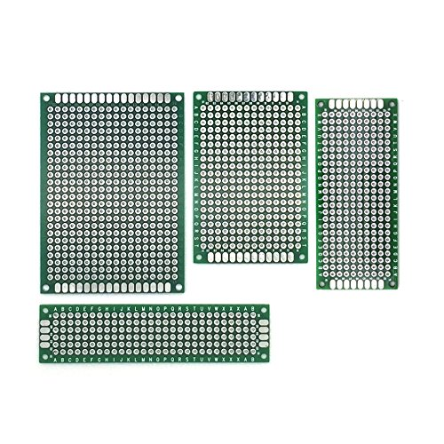 AptoFun 20 STK Lochrasterplatine, Leiterplatte PCB Universal Board mit Größe (5x7/ 4x6/ 2x8/3x7 cm, je 5 STK)